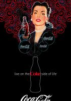 Coca-Cola Lady - Rouge et Noir by Coca-Cola-ArtGallery