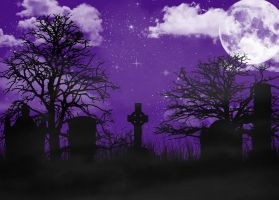 Night at the Cemetery by dArkeRiaNnE