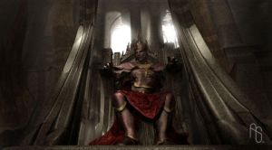 King on Throne Concept by aaronsimscompany