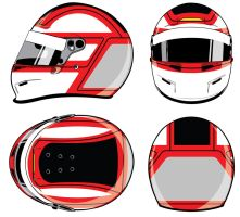 Jaspion F1 Helmet layout -Bell helmet- by GusBor