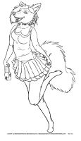 Anthro Free Use Lineart by Biohazard-Nurse