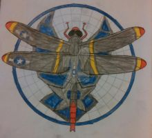 Dragonfly: P-51 mustang red tail by Devilgirl007