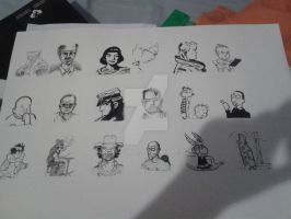 Comic Creators and creations by napacool