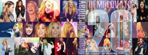 Happy Birthday 20 Demi Lovato by Somedaysmile