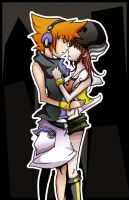 "-TWEWY- ""The way you are.."" by LyingInWait"