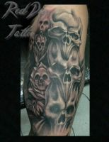 Wayne Skulls Tattoo II by Reddogtattoo