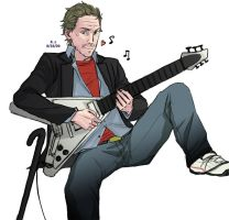 House playing guitar by zer03908