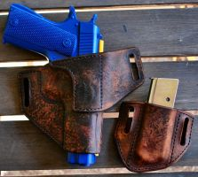 A.S. 1911 Holster and Mag Pouch by Obsidian-Sun