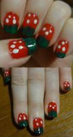 Strawberry nails by kelles-nails