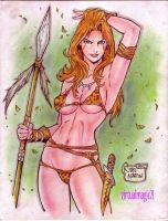 JUNGLE GIRL original art by RODEL MARTIN by rodelsm21