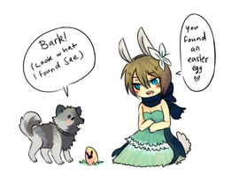 [Happy Tails Event] - Easter by myneea