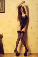 The Cat With Long Legs by VMPSelene