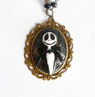 Jack Skellington cameo necklace by Shizuru117