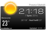 AccuWeather Black With Clock by Slavoo123