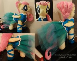 Fluttershy Fashion Model Plush by JanellesPlushies