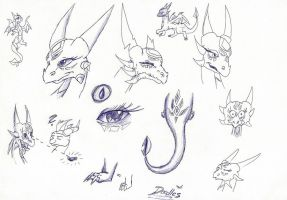 Cynder doodles by IcelectricSpyro
