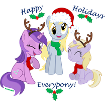 """Have a very Pony X-mas"" by AxemGR"