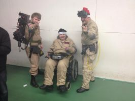 Ghostbusters Team 'Wigan Comic-Con 8' by extraphotos