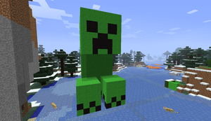 Creeper Statue by NikeMan223