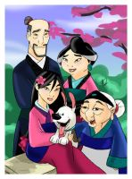Mulan's family by wuuge