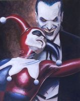The Joker and Harlequin by negroh