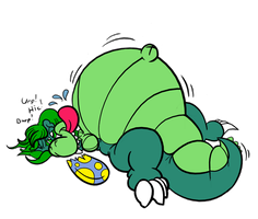 Beached croc by DragonKick