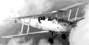 Tiger Moth aircraft Paint By Number art kit by numberedart