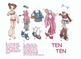 Ten Ten Paperdoll by narcissusblossom