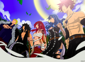 Team Fairy Tail by zedjianreturns
