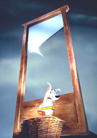 Krypto scared of the guillotine by ILUVconlimic000