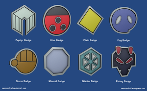 Pokemon Badges - Johto League by seancantrell