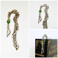 Fantasy Celtic Medieval Bookmark Bow by SuniMam
