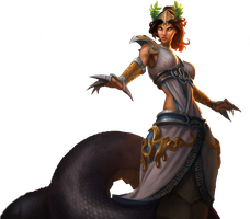 League of Legends Mythic Cassiopeia Render by Saneco