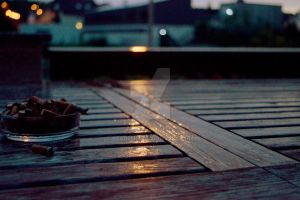 Rainy Deck by Keademia