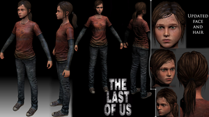 Ellie from The Last Of Us, fan model by LegalSoul