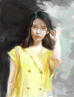 iu flower bookmark by rice-soup