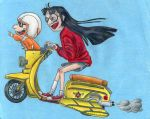 Colored Flying Moped by QuoteCentric