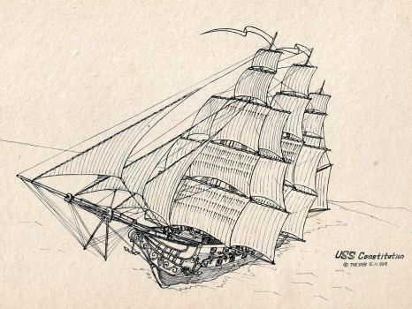 USS Constitution by TheXHS