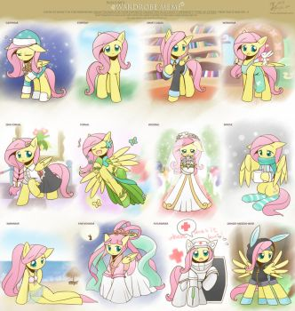 Cloth meme Fluttershy by HowXu