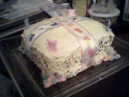 Baby shower cake by Chezza-yume