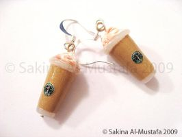 Starbucks Earrings by ChocoAng3l