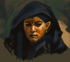 Spitpaint:African Elf by TheNecco