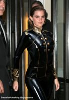 Emma Watson in black and gold Latex by Andylatex