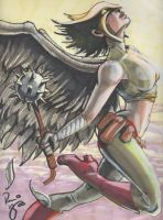 Convention Sketch: Hawkgirl by RenaeDeLiz