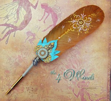 The 4 WINDS Elemental Feather Quill Pen by ChaeyAhne