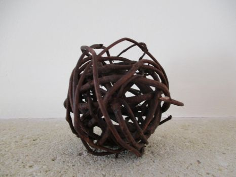 Wired wooden ball by SlichoArt