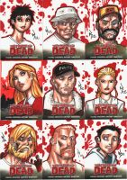 Walking Dead Sketchcards.02 by RyanKinnaird
