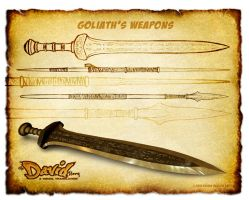 The David Story: Goliath's Weapons Concepts by eikonik