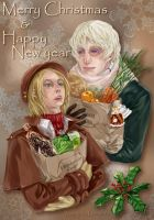 Xmas card Russia and Poland by mepty