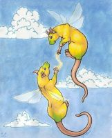 Twin Elvish Rat-Fairies by cricket00fur